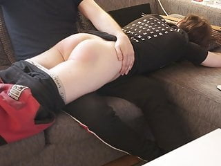 Amateur Boy gets his first spanking ever